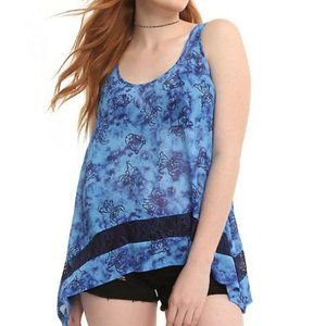 Hot topic | Stitch Tie Dye Chiffon & Lace Tank Top